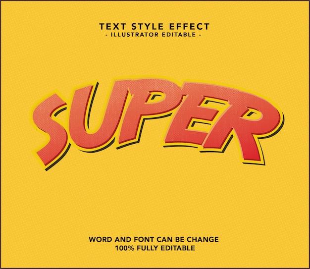 Super font Premium Vector