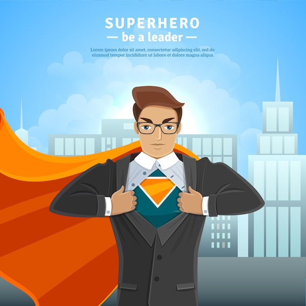 Super hero businessman concept Free Vector