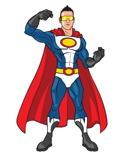 Super hero cartoon mascot | Premium Vector
