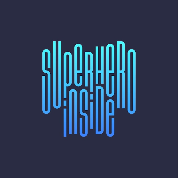 Super hero power full typography print Premium Vector
