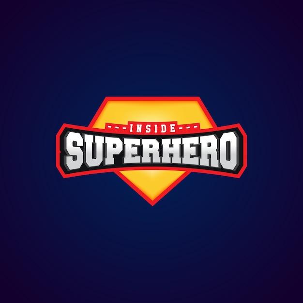 Super hero power full typography, t-shirt graphics Premium Vector