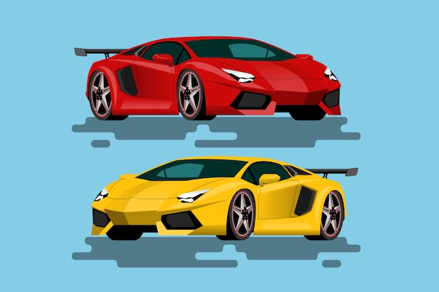 Super luxury car for people who love high speed Premium Vector