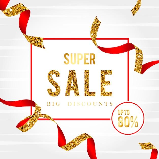 Super sale 80% off sign vector Free Vector