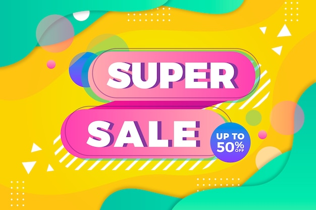 Super sale abstract colourful background Free Vector