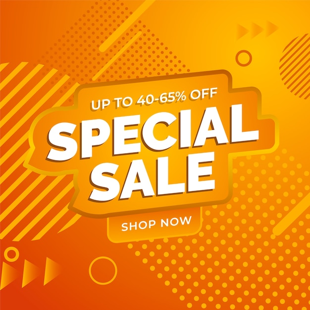 Super sale abstract orange background Free Vector