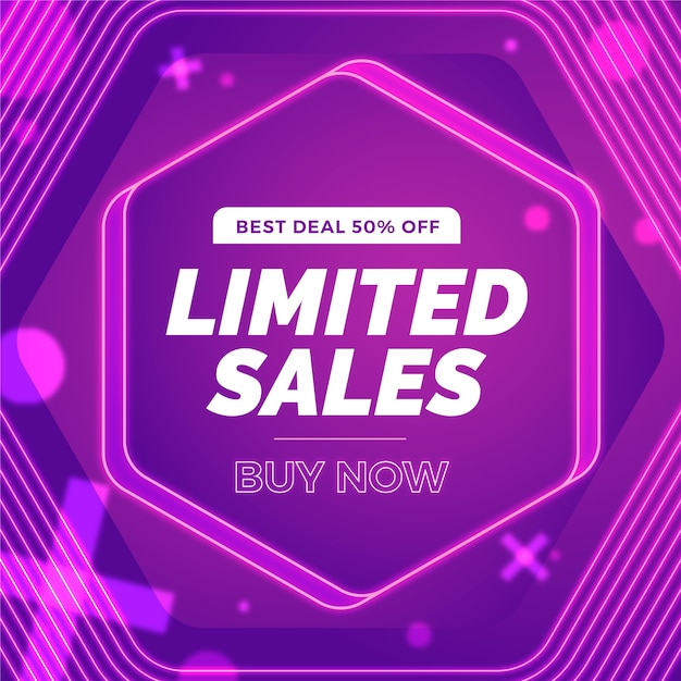 Super sale abstract violet background Free Vector