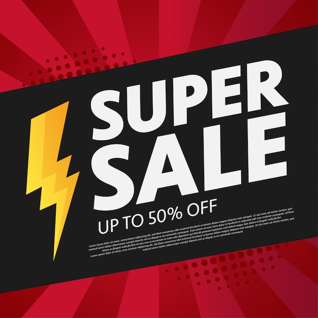 Super sale background Free Vector