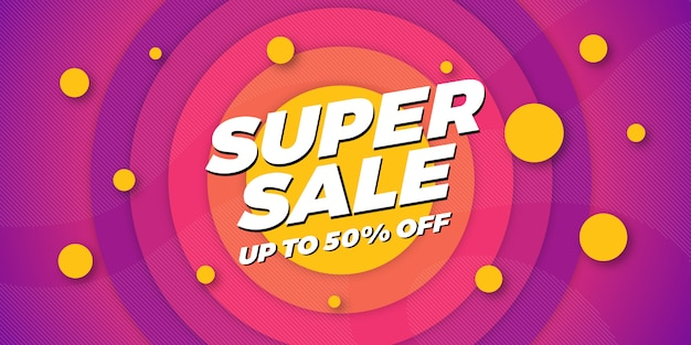 Super sale banner background Premium Vector