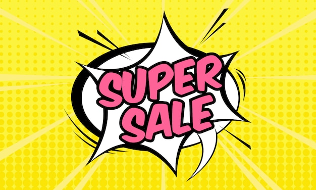 Super sale banner template Premium Vector