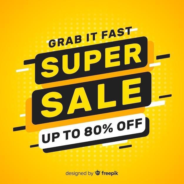 Super sale banner Free Vector