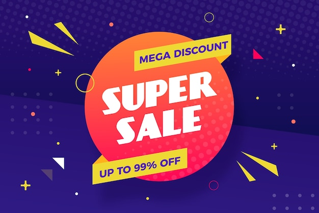 Super sale discount business background Free Vector