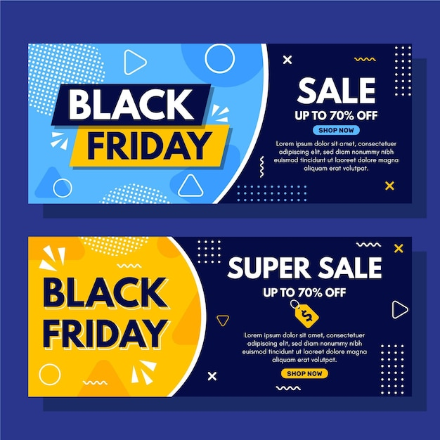 Super sale dotted black friday banner template Premium Vector