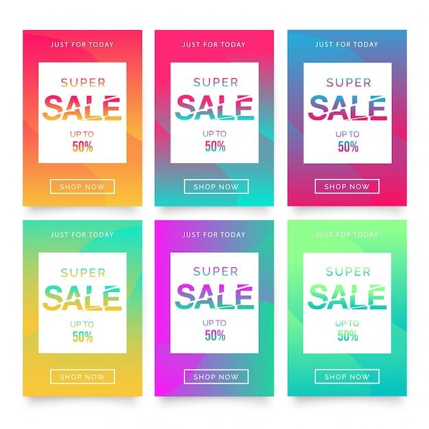 Super Sale Flyer Template Free Vector