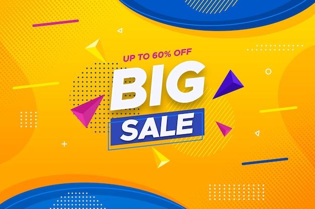 Banner orizzontale super vendita con sconto Vettore gratuito