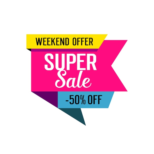 Super Sale Lettering On Tag Free Vector