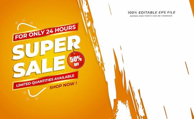 Super sale sale background with grunge space Premium Vector