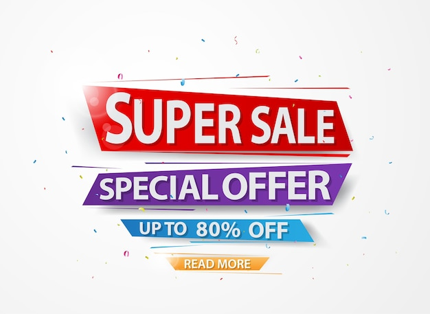 Super sale and special offer Premium Vector
