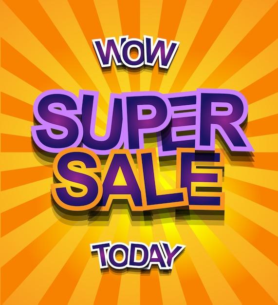 Super sale today banner Premium Vector