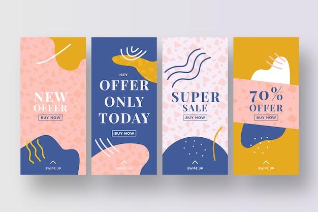 Super sales instagram stories collection Free Vector