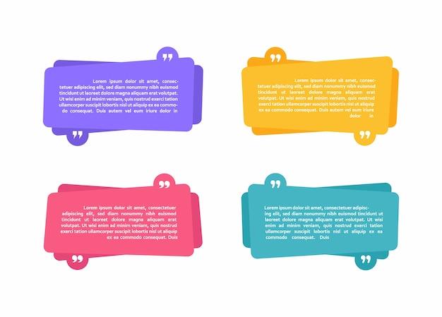Супер набор различной формы геометрические текстовые поля. цветные абстрактные формы для цитаты и текста. современная иллюстрация. Premium векторы