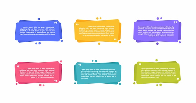 Super set different shape geometric texting boxes. colored abstract shapes for quote and text. modern    illustration. Premium Vector