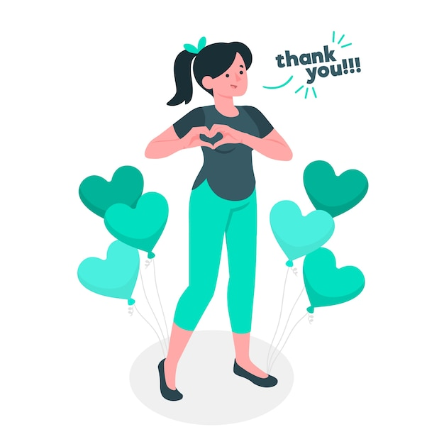 Super thank you concept illustration Free Vector