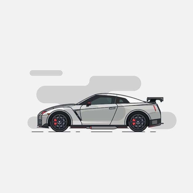 Supercar flat design Premium Vector