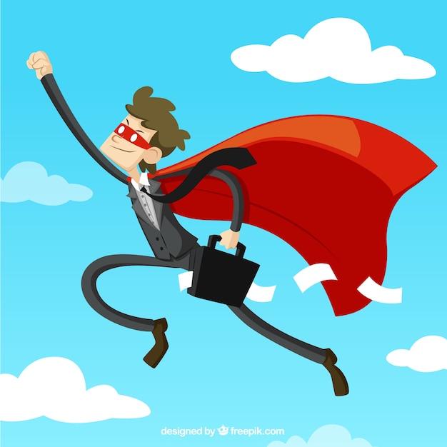 Superhero businessman Premium Vector