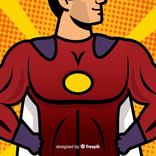 Superhero chest background Free Vector
