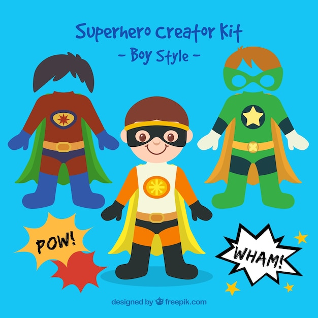 Superhero child Free Vector