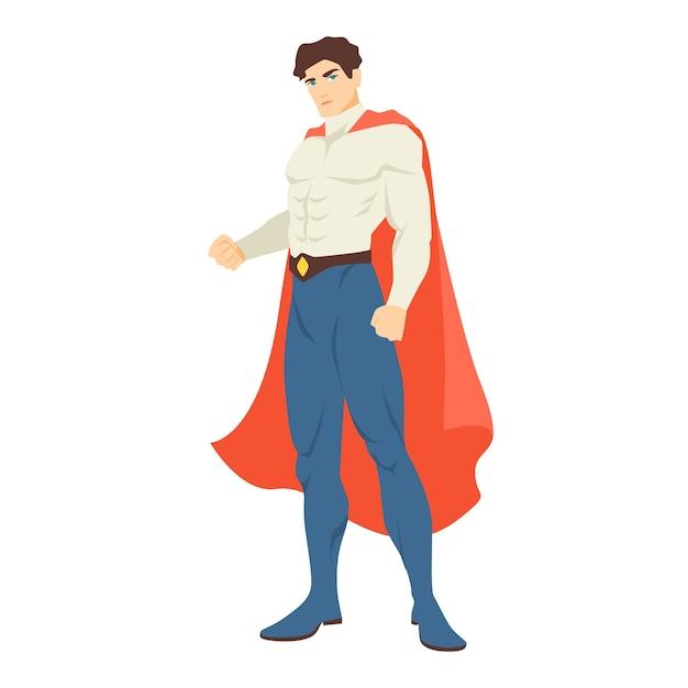Супермен или супергерой. Premium векторы