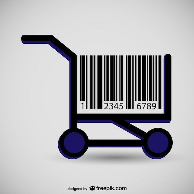 Supermarket chart barcode concept Free Vector