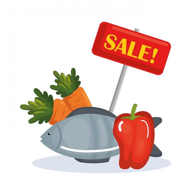 Supermarket groceries healthy food Free Vector