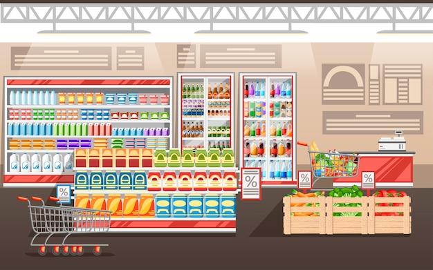 Иллюстрация супермаркета Premium векторы