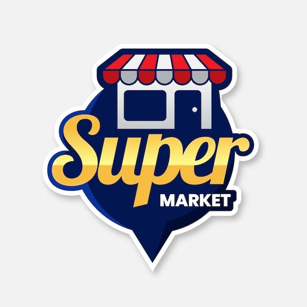 Supermarket logo Free Vector
