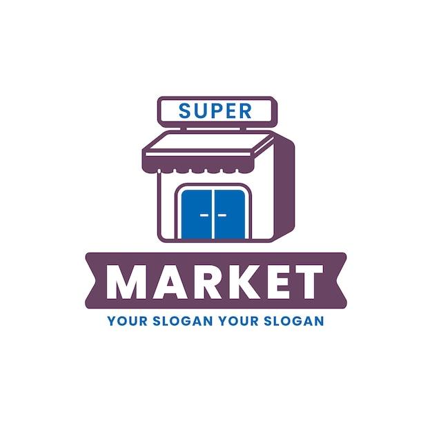 Супермаркет логотип Бесплатные векторы