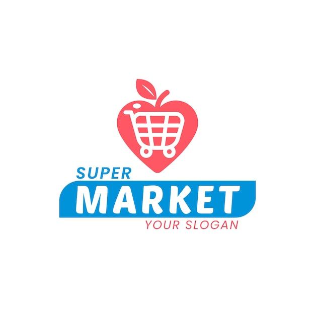 슈퍼마켓 로고 프리미엄 벡터