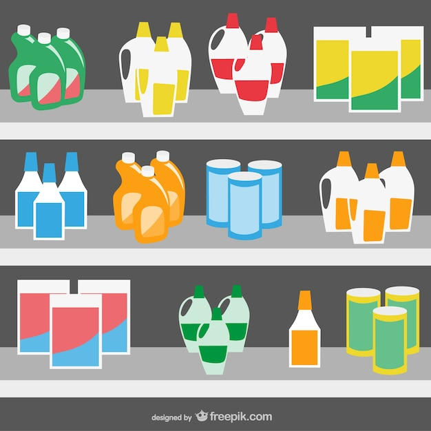 Supermarket products Free Vector