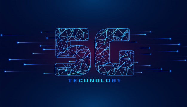 Superspeed 5g fifth generation wireless technology background Free Vector