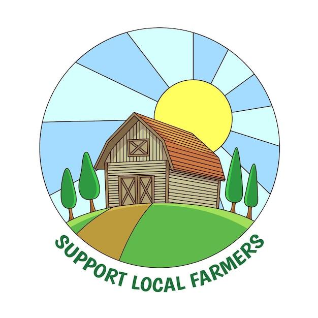 Sostieni gli agricoltori locali Vettore gratuito