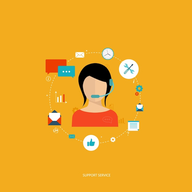 Support service concept Free Vector