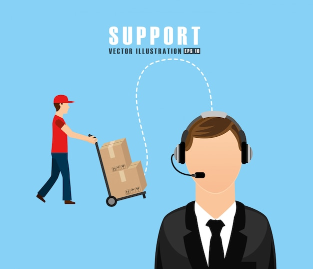 Support service design Free Vector