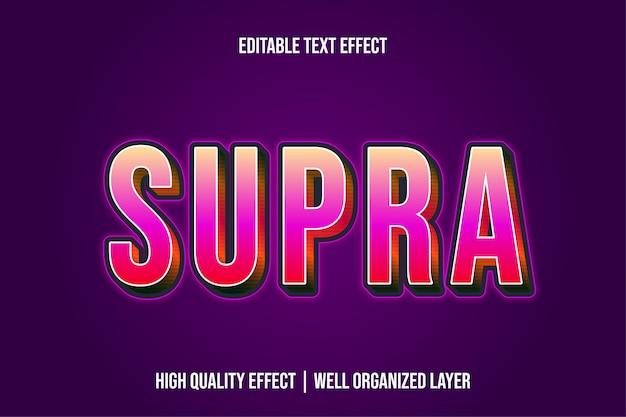 スープラ編集可能なモダンなテキスト効果フォントスタイル Premiumベクター