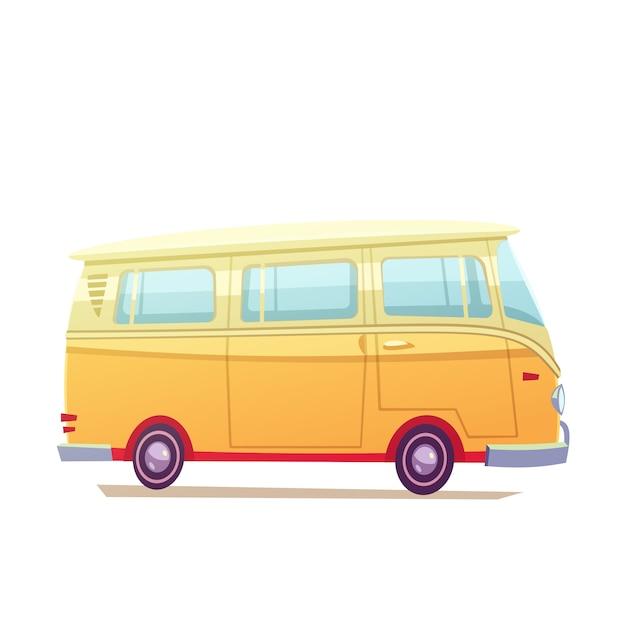 Surf bus illustration Free Vector