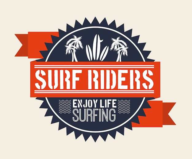 Surf design Premium Vector