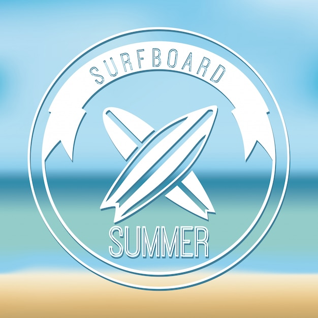 Surf simple element Free Vector