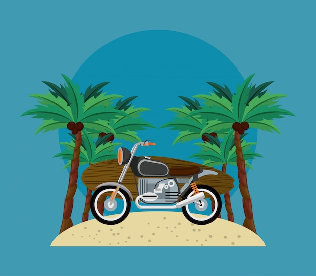 Surf time cartoon Premium Vector
