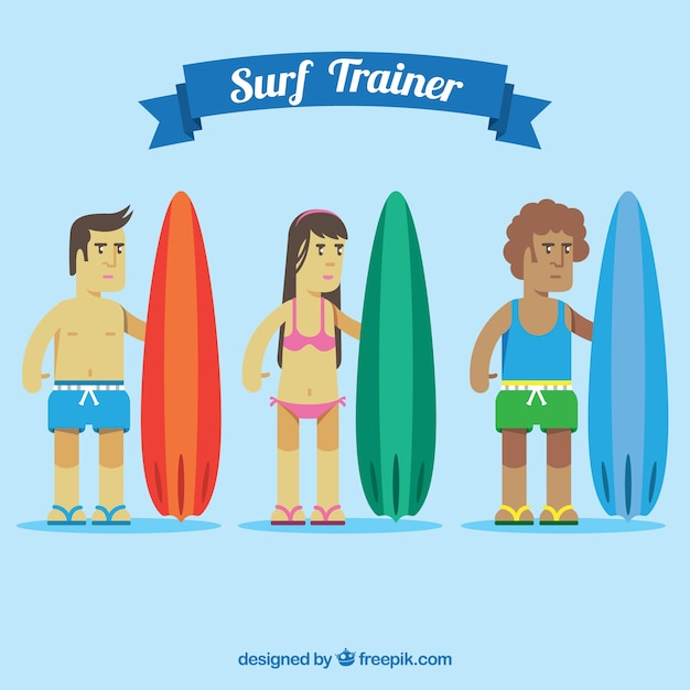 Surf trainers set