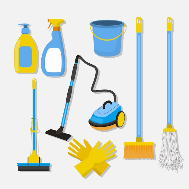 Surface cleaning equipment Free Vector