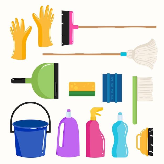 Attrezzature per la pulizia delle superfici Vettore gratuito